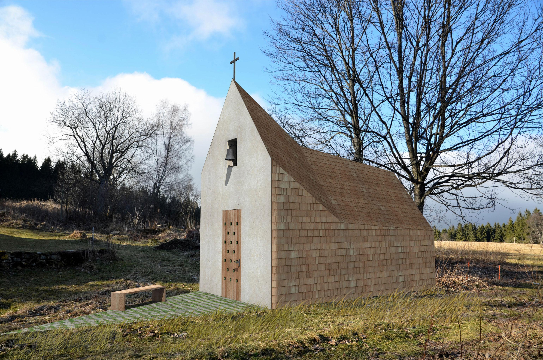 Projekce-Cerny-Kaple-sv-Huberta (1)