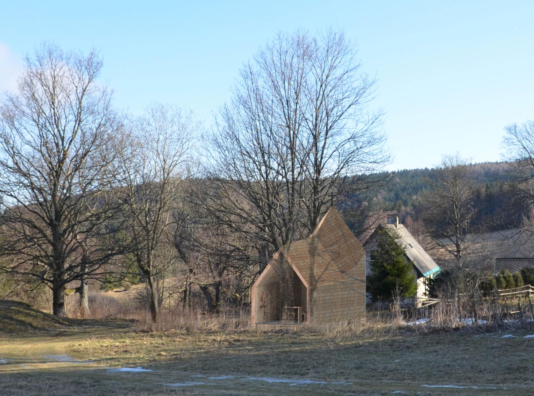 Projekce-Cerny-Kaple-sv-Huberta (3)